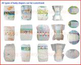 Materias primas de papel lanzadas para fabricar las servilletas sanitarias y los pañales del bebé