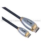 De Dubbele Mannelijke MiniKabel HDMI van de hoge snelheid met Kanaal Ethernet