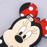 漫画の点の弓驚きのMickeyの縞のMinnieのシリコーンの携帯電話の箱(XSD-080)