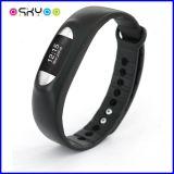 Deporte que mide el tiempo del reloj elegante del podómetro de la pulsera de Bluetooth