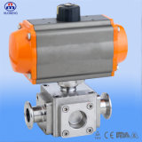 Pneumatic sanitario Ball Valve con l'iso 3A Certification del CE