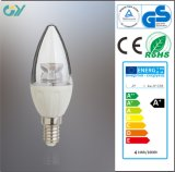 0.5PF 320lm CE&RoHS C35 4W E14/E27 DEL Candle Lamp