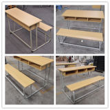 나무로 되는 3개의 시트 결합 학교 책상 및 벤치 (SF-40D)
