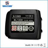 Paquete de la batería de las herramientas eléctricas del reemplazo del Li-ion Bl1440 de Makita 14.4V 4000mAh