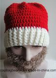 Sombrero de la barba del sombrero de la Navidad que hace punto