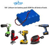 Bloco recarregável da bateria da bateria 18650 do Lítio-Íon da bateria da potência para os &Toys elétricos 18V4ah da ferramenta