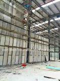 Oficina do armazém da construção de aço com o painel de parede da placa do cimento da fibra