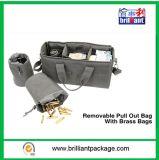 Movible sacar el bolso con los bolsos de cobre amarillo