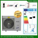 Spola del nord della sala 12kw/19kw/35kw del tester del riscaldamento di pavimento di inverno dell'Europa -25c 100~350sq l'alta Automatico-Disgela il sistema spaccato della pompa termica di sorgente di aria di Evi