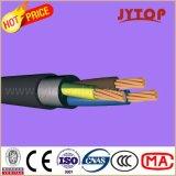 Câble cuivre d'installation de boîtier d'isolation de PVC de basse tension de câble de Nyy