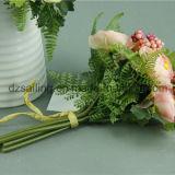 Flor artificial del ramo decorativo del ranúnculo (SF11687B/6)