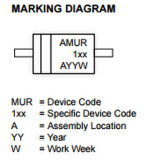 Switchmode potencia del diodo rectificador Mur160rl de componentes electrónicos