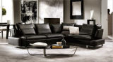 Salone Furniture Modern Leather Sectional Sofa con la L Shape