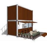 喫茶店のためのモジュラープレハブの移動式容器の家