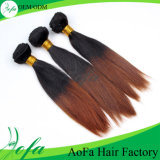 1b/4# Ombre Color Weavon Straight Hair、インドのHuman Hair Extension