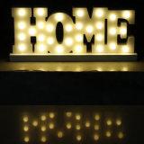 Het LEIDENE van de Lamp van leiden- Brieven Decor van het Alfabet voor de Decoratie van het Huis