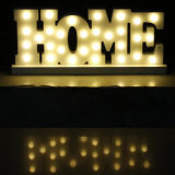 LED는 가정 훈장을%s 램프 LED 알파벳 장식을 써 넣는다