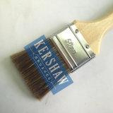 Sistema de cepillo de pintura (cepillo plano del filamento mezclado con la manija de madera del álamo)