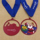 De promotie Medaille van de Looppas van de Kerstman van het Email van de Douane voor Kerstmis