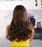 Cheveu coréen de synthétique de perruque de cheveux humains de Remy Cury long