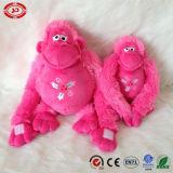 Configuration neuve rose de singe reposant le jouet mou de cadeau de Noël de peluche