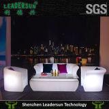 Muebles al aire libre de interior ligeros caseros del sofá del hotel LED (LDX-S12)