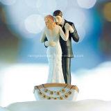 노 젓는 보트 신부 & 신랑 케이크 상품 작은 조상에 있는 결혼식 한 쌍