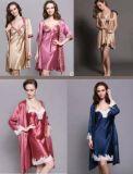 silk Sleepware Silk 숙녀의 시트와 베갯잇 간단한 실크 Sleepware 잠옷