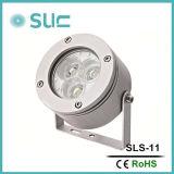 狭いビーム小型LED点ライト屋外のプロジェクトライト3Wが付いている小型Aluminumnの点ライト