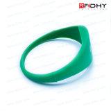 Wristband colorido do silicone da distância RFID da leitura de 1 polegada