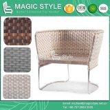 Mobilia moderna del nuovo sofà di vimini di disegno del sofà del patio del sofà di svago del giardino del sofà dell'acciaio inossidabile
