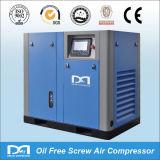 Lubrifié à l'eau huile électrique Rotary gratuit vis Compresseur d'air