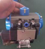 Azionatore pneumatico con il contenitore di interruttore di limite, elettrovalvole a solenoide