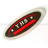 3D PVC gravado Label para Garments Rubber Patch