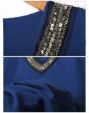 Brevi vestiti di modo delle donne dei vestiti da sera del manicotto del V-Collare