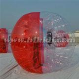 半分カラー1.0m Dia TPUの泡サッカーボールの気が狂った球D5018