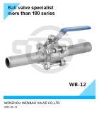 Long robinet à tournant sphérique du collet Ss304 3/4 pouce prix de 1000 LPC
