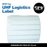 Papel revestido de la etiqueta H4 de la logística de la frecuencia ultraelevada de ISO18000-6c RFID