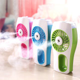 Switch를 가진 휴대용 3 속도 Strong Wind Steam Mist Humidifier Atomizing Spray Table 또는 Handheld Micro USB Mini Fan