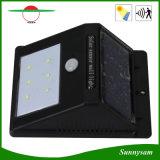 6 LED IP65 impermeabilizzano l'indicatore luminoso solare esterno della parete del sensore di movimento del sensore dell'indicatore luminoso umano senza fili PIR del giardino