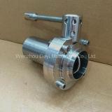 Sanitária aço inoxidável SS304 SS316 Masculino / Weld Válvula Borboleta