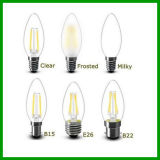 가득 차있는 Glass 400lm 4W E14 LED Filament Candle Bulb