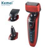 Kemei5889 che si scambia 3 in 1 lamierina ricaricabile di triplo del rasoio elettrico del rasoio che rade rasoio