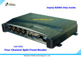 Leitor fixo da canaleta da freqüência ultraelevada RFID quatro do FCC Impinj R2000 do Ce