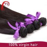 100% rohe unverarbeitete gerade Jungfrau-peruanische Haar-Webart