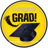 Placas de papel del alumerzo de la cena para el partido de graduación