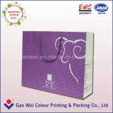 El bolso de compras de papel, insignia de encargo impresa, hace la impresión de la bolsa a mano de papel