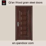 木製のパターンが付いている穀物によって電流を通される鋼鉄ドア