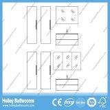 Alta vanità della stanza da bagno della pietra di conclusione con due vanità laterali e due bacini (BF116N)