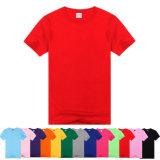 T-shirt 100% Poliéster com cor e logotipo personalizados mais baratos